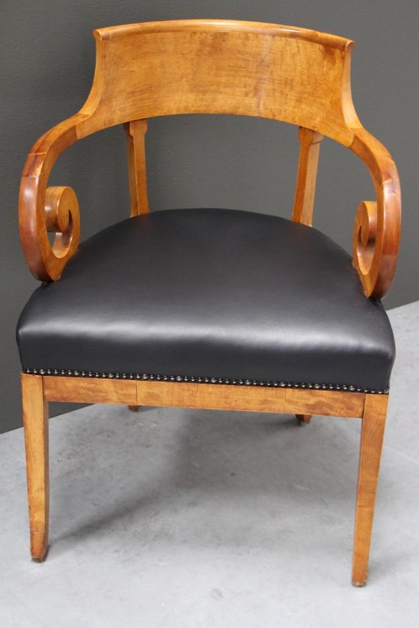 Buy Biedermeier desk armchair satin birch from Antiques ...