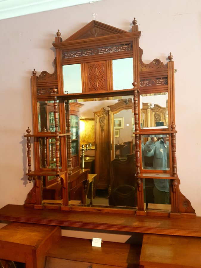 Buy Late Victorian Walnut Overmantle From Tulip Antiques
