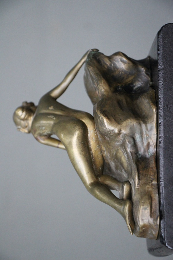 Buy French bronze lady statue sculpture nude from Antiques