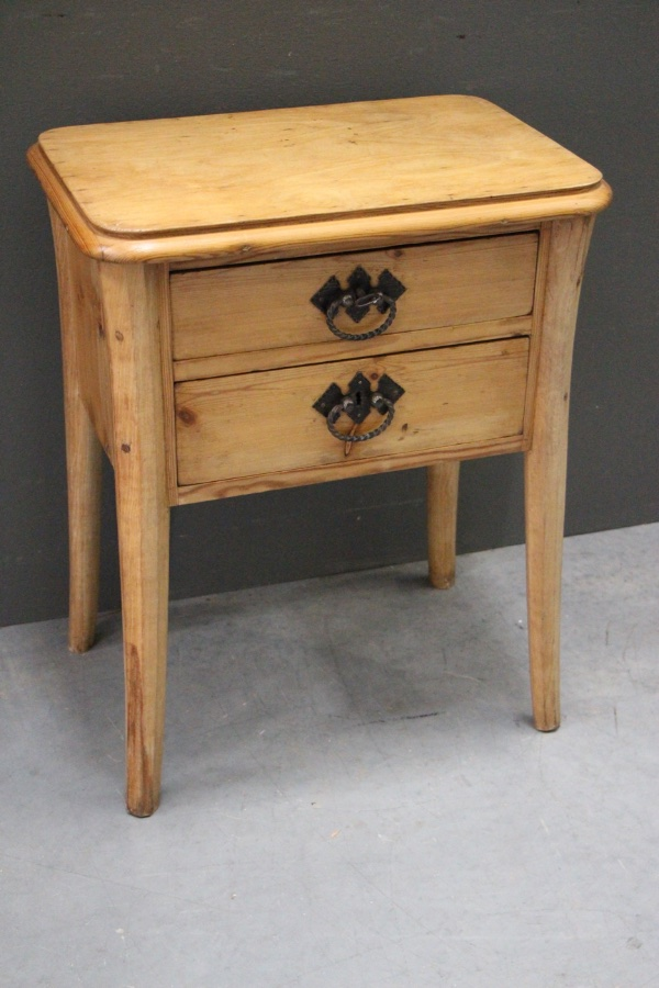 Swedish country pine lamp table bedside