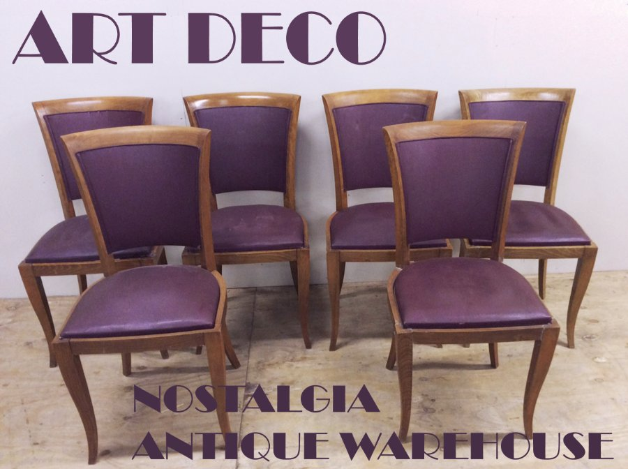 Buy A Set Of Six French Art Deco Chairs From Nostalgia Antiques
