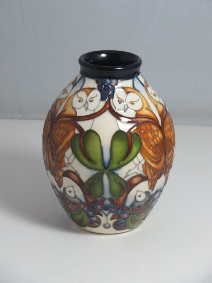 Buy Moorcroft Quot Whoot Quot Vase 3 5 From Charla J Antiques