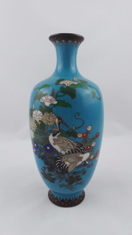 buy japanese cloisonne decorative vase from moonee ponds antiques. Black Bedroom Furniture Sets. Home Design Ideas