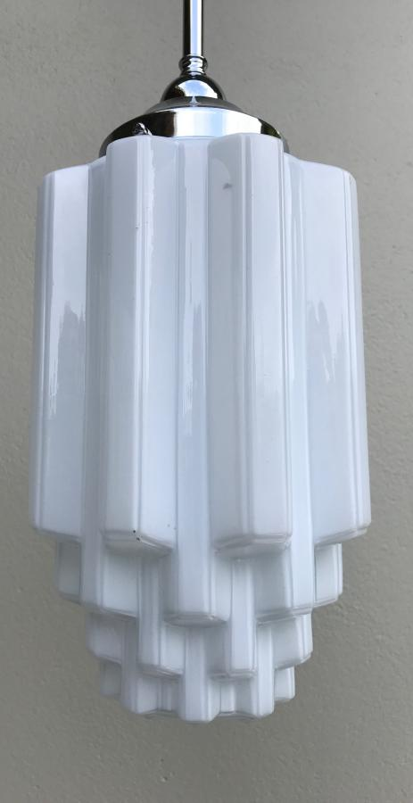 Buy Deco White Glass Skyscraper Light Shade From Prism