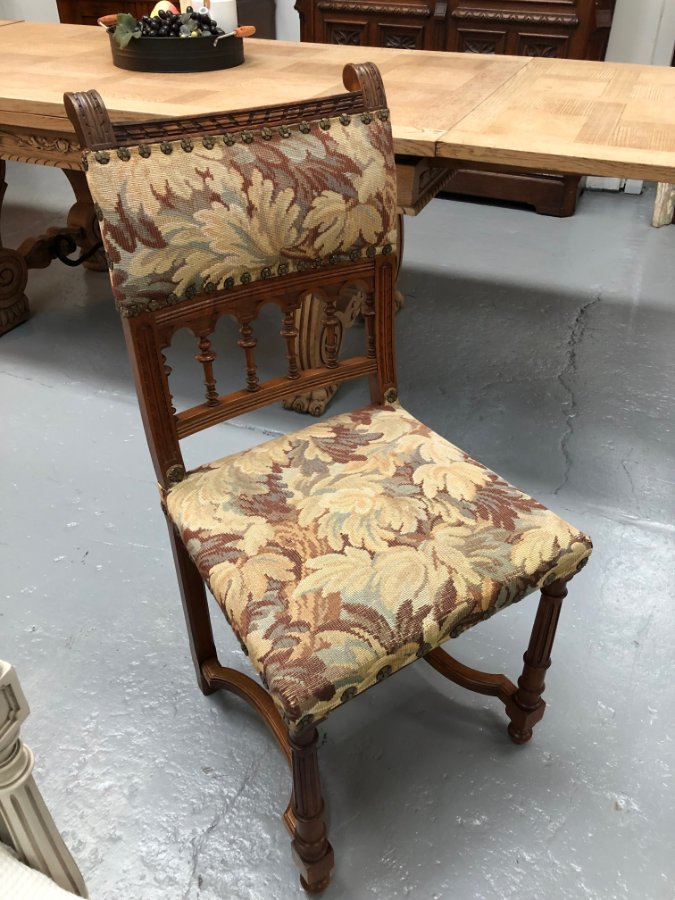 Buy French Walnut Carved Chair From Moonee Ponds Antiques