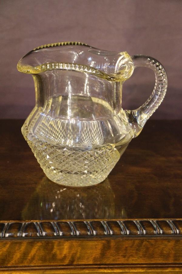 Buy Late Georgian Irish Glass Jug Pitcher From Antiques