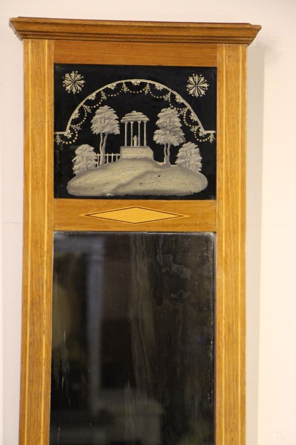 Buy Tall Empire Trumeau Mirror Inlaid Frame From Antiques And Design Online