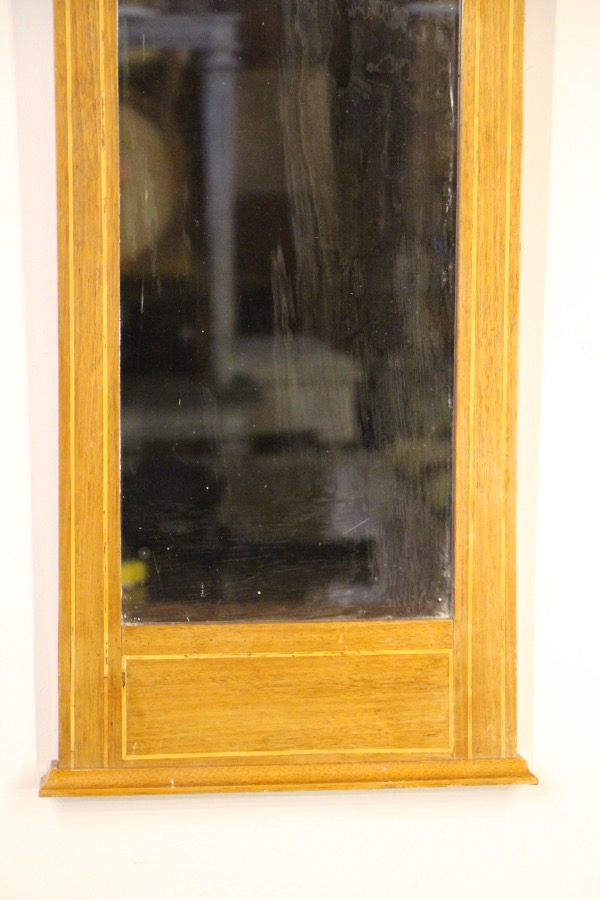 Buy Tall Empire Trumeau Mirror Inlaid Frame From Antiques