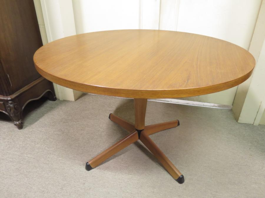 Buy Retro Round Teak Coffee Table From Nostalgia Antiques