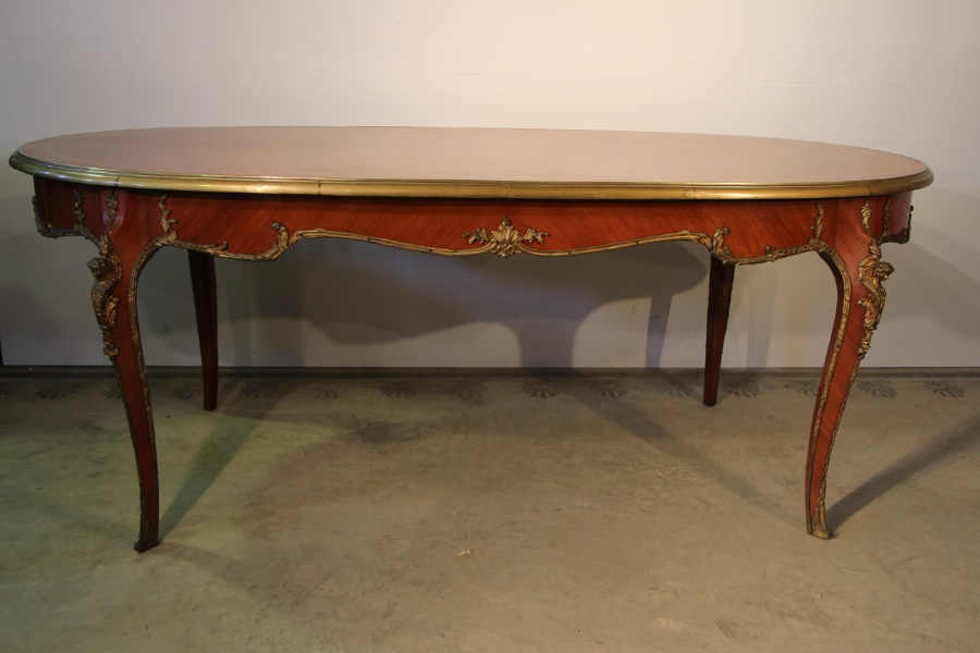 Buy French Louis Marquetry Ormolu Dining Tab From Antiques