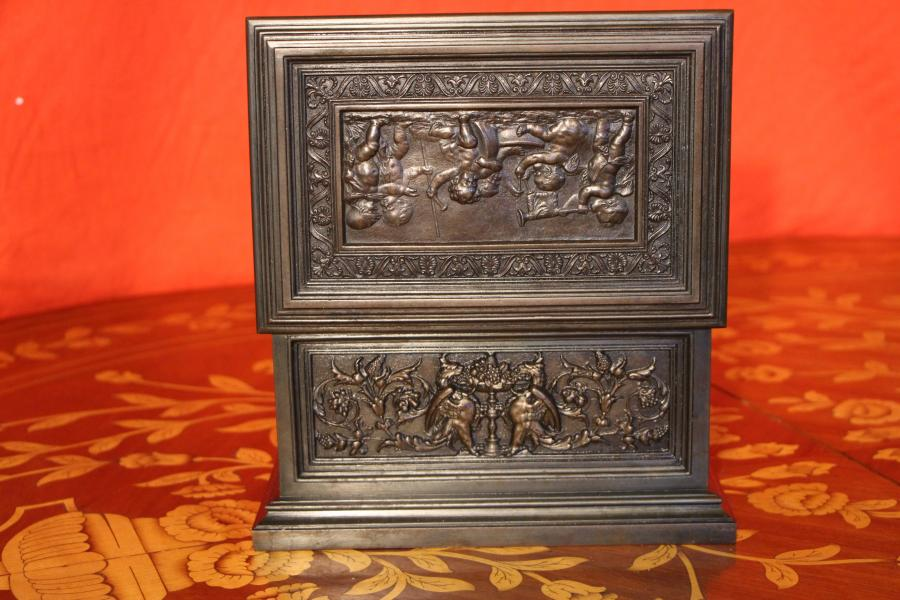 Buy Rare Jewel Box Cast Iron Casket Trunk From Antiques