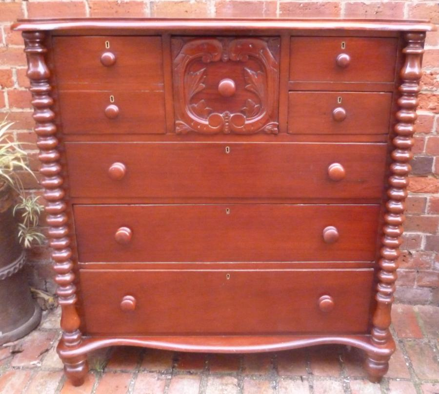Buy Early Australian Cedar Chest Of Drawers From Antique Effects