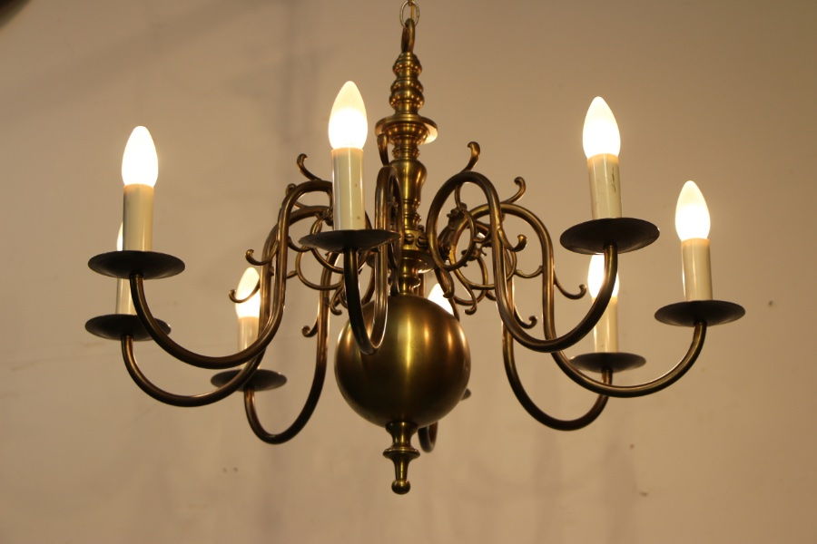 Buy Large Brass Dutch 8 Arm Chandelier From Antiques And
