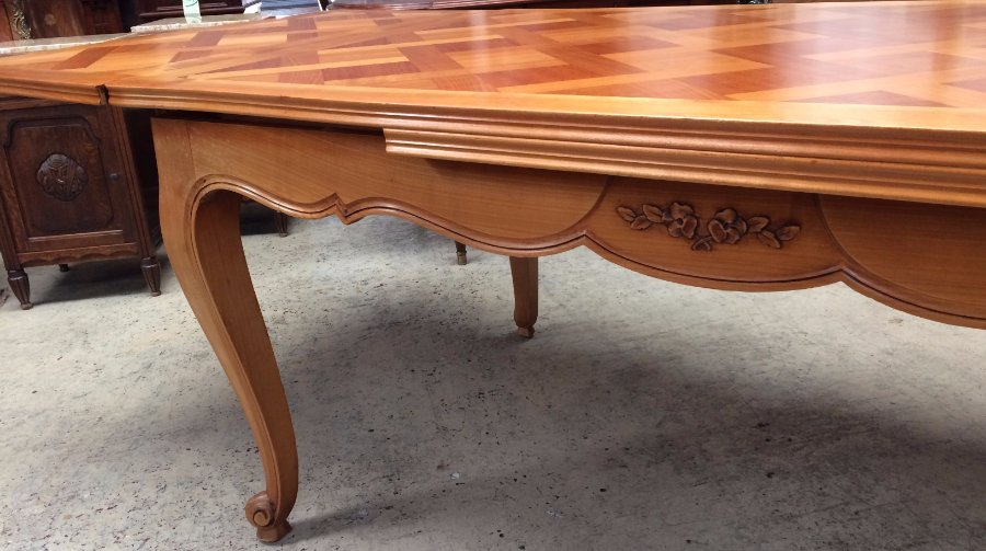 Cherrywood Parquetry Top Dining Table
