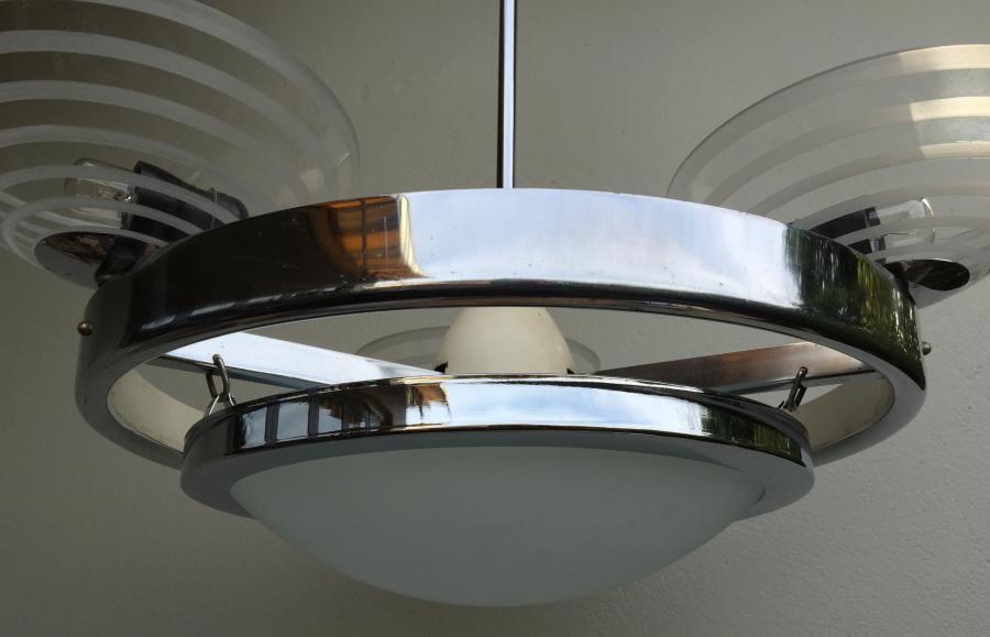Buy Large Deco Chrome 4 Light Chandelier Plus Other
