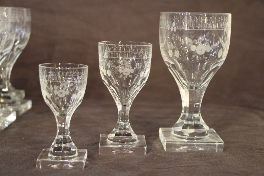 Buy Rare Large Set Of Georgian Wine Glasses From Antiques