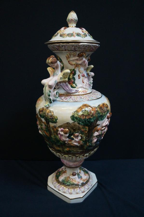 Buy Large Capodimonte Urn From Seanic Antiques