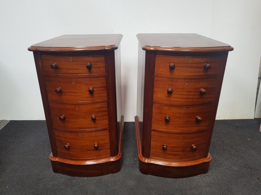 Buy Pair Of Attractive Mahogany Bedsides From Brunswick St