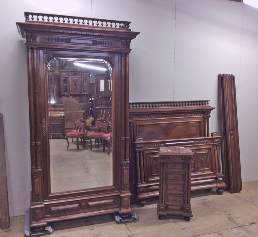 walnut henri ii armoire. Black Bedroom Furniture Sets. Home Design Ideas