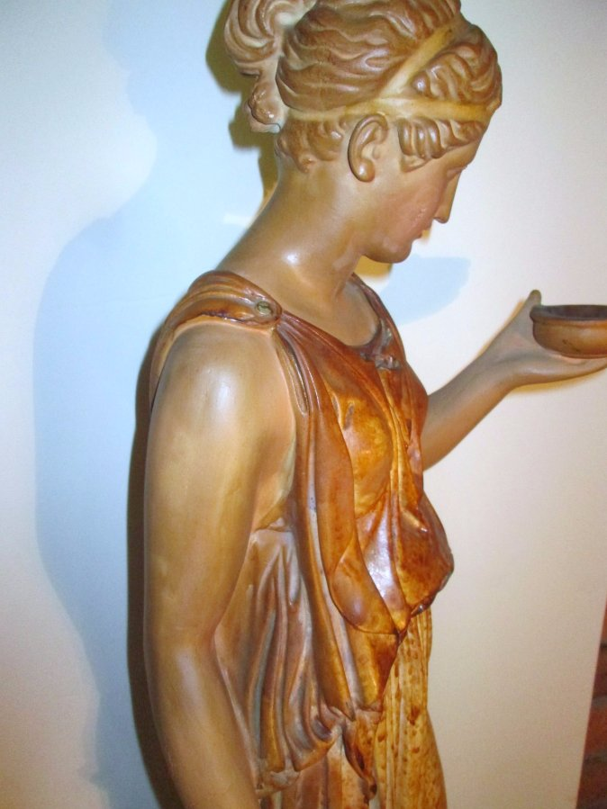 Buy Art Deco Statue Lady On Pedestal Mattei From Neville