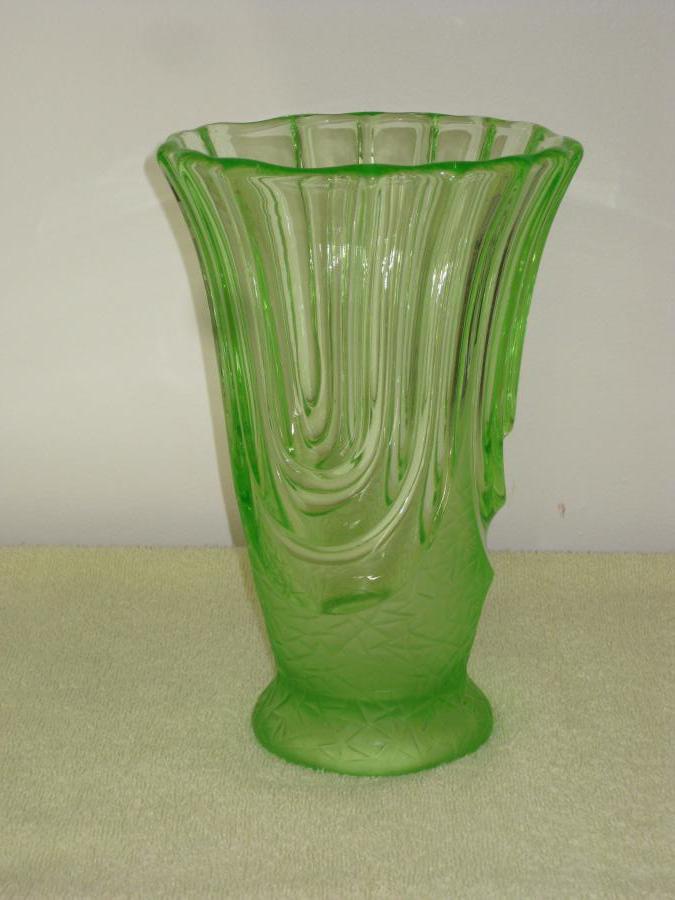 Buy Art Deco Uranium Glass Vase From Ambleside Antiques