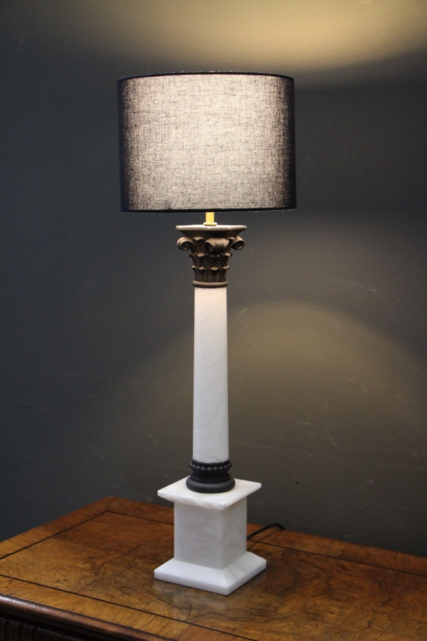Buy Marble Corinthian Column Lamp Base From Antiques And