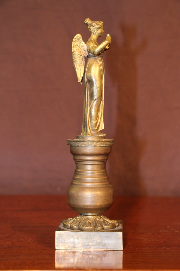 Buy French Empire Ormolu Bronze Angel Statue From Antiques