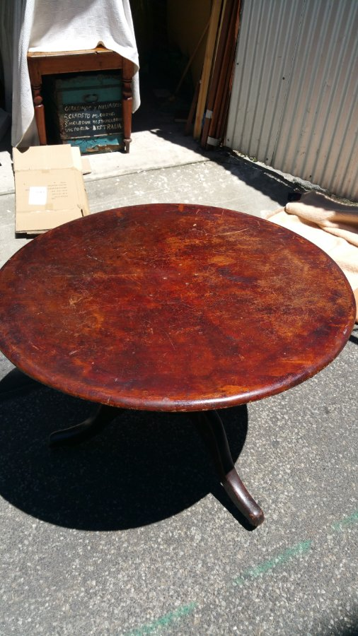 Buy Cedar Round Antique Table From Grays Affordable