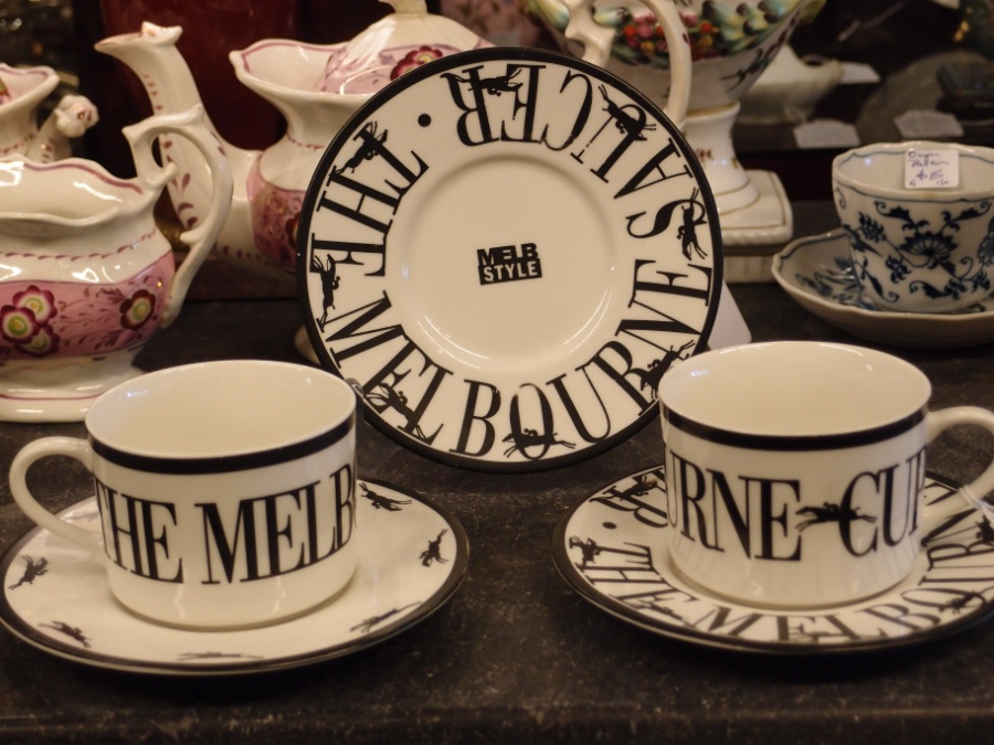 Buy The Melbourne Cup Cup And Saucers From Roy S Antiques