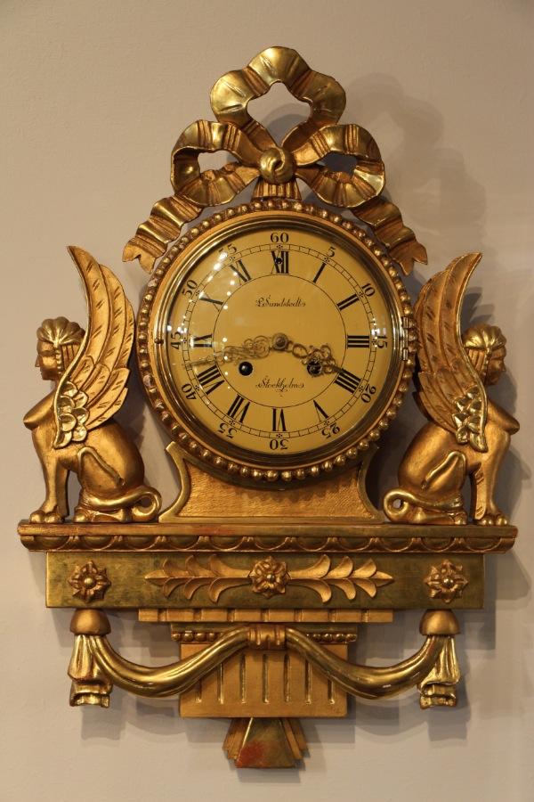 Buy Swedish Giltwood Sphinx Cartel Clock Plus Other