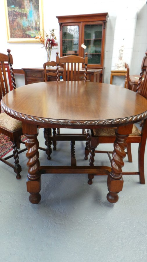 Buy Jacobean Oak Dining Table And Chairs From Moonee Ponds
