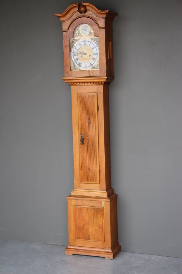 Buy Carved Oak Longcase Grandfather Clock From Antiques