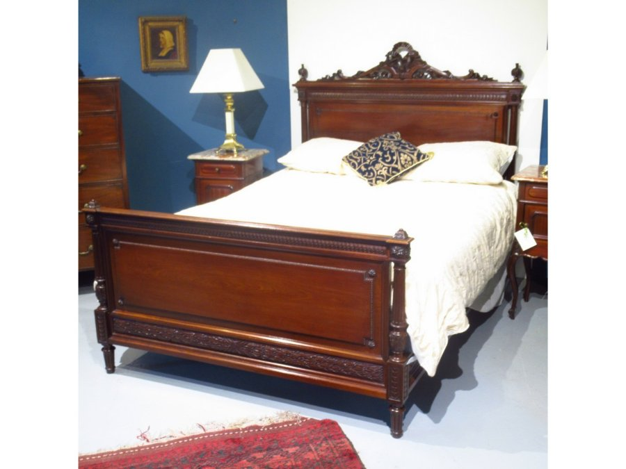 Buy Queen Size French Mahogany Bed From Pegasus Antiques