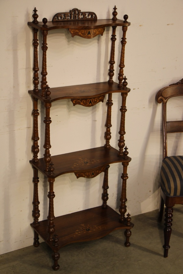 Buy Victorian Marquetry 4 Tier Whatnot Stand From Antiques
