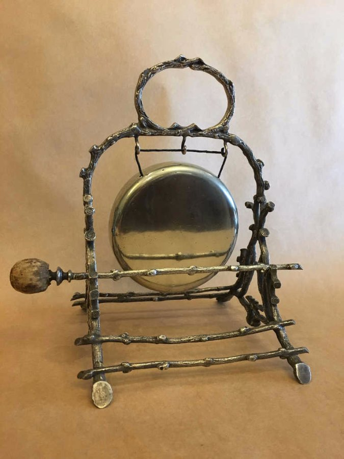 Buy Silver Plated Circa 1900 Dinner Gong From The Old Post