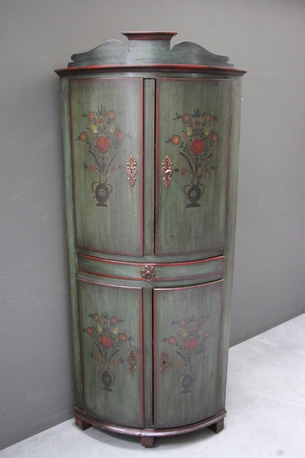 Buy Tall Farmhouse Painted Corner Cabinet From Antiques And Design Online