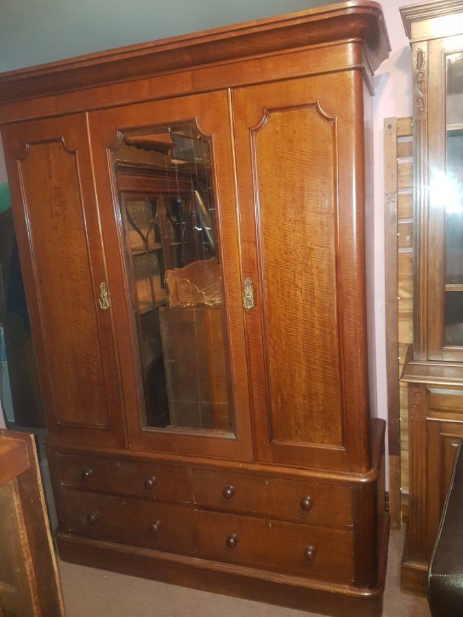 Buy Antique Silky Oak Wardrobe 5 Pieces From Tulip