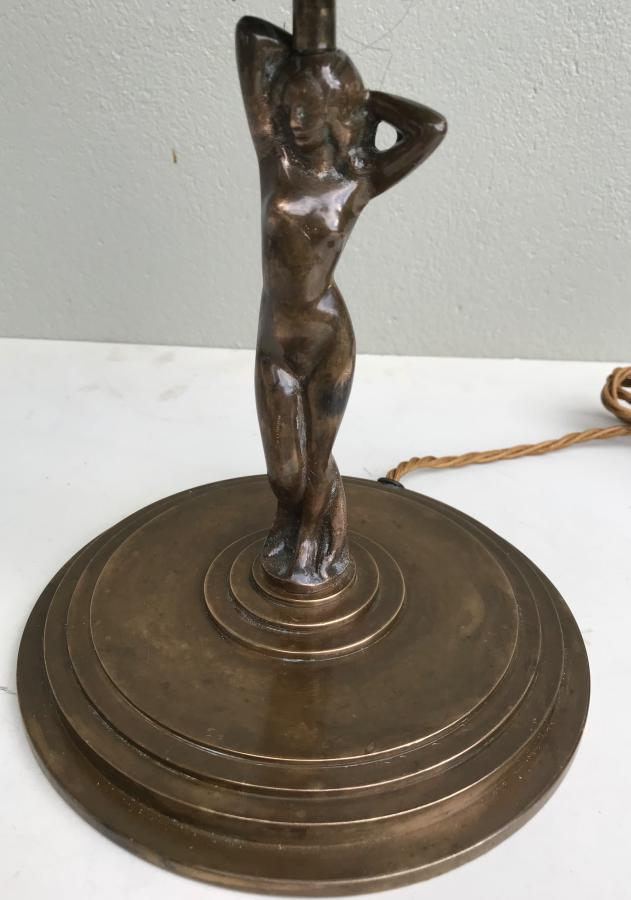 Bronze Arts And Crafts Lady Lamp