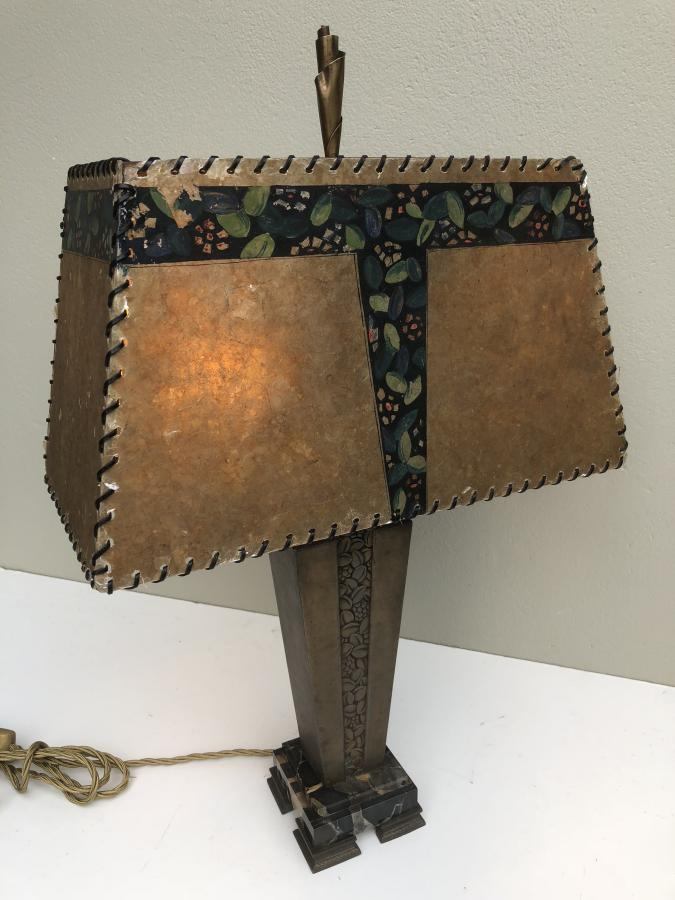 Buy French Deco Bronze Marble Lamp Shade From Prism