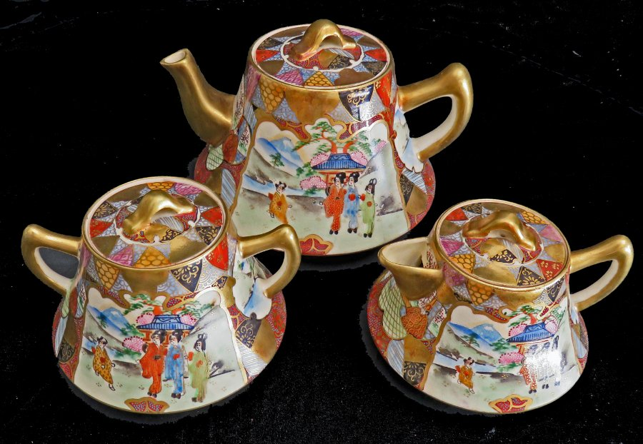 Buy Satsuma Japan Teapot Milk Jug Amp Sugar From Yande