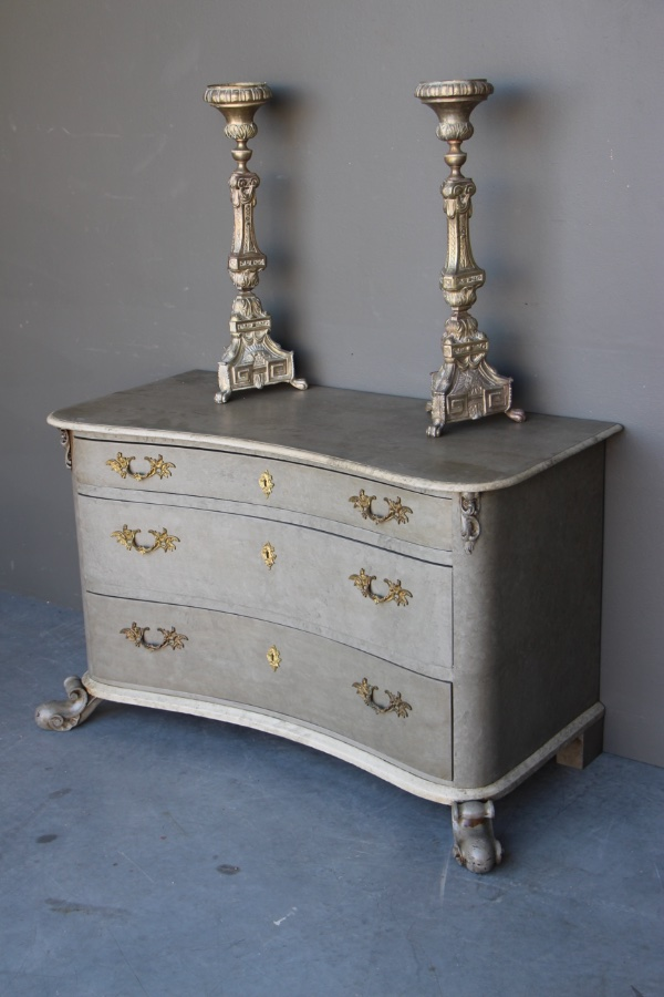 Buy Serpentine Front Baroque Chest Painted From Antiques