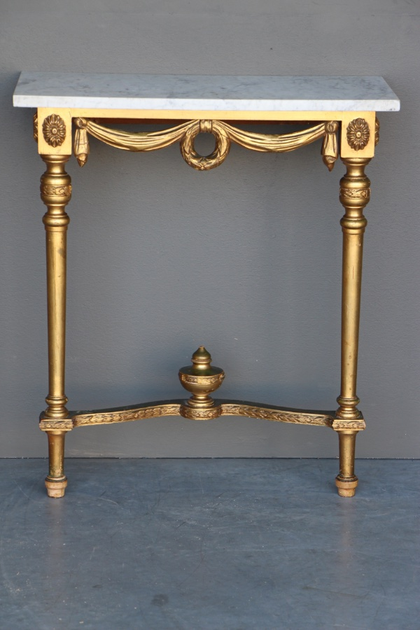Buy Carved Gilt Gustavian Console Table From Antiques And