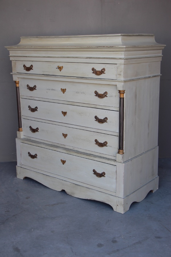new concept 55148 adeb1 Scandinavian painted tallboy chest
