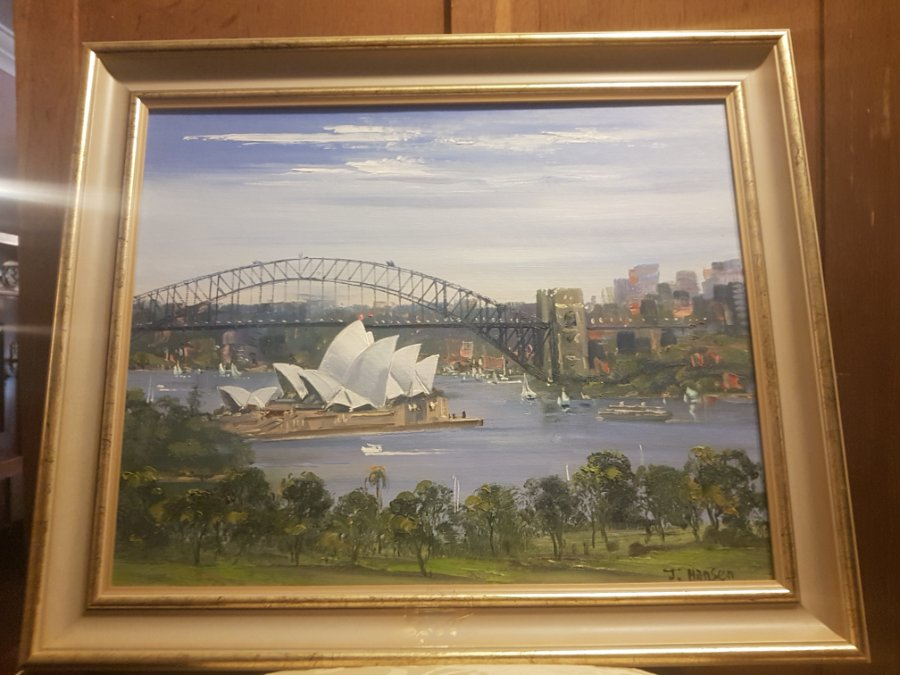 Buy John Hansen Oil Painting Sydney Harbour From Tulip