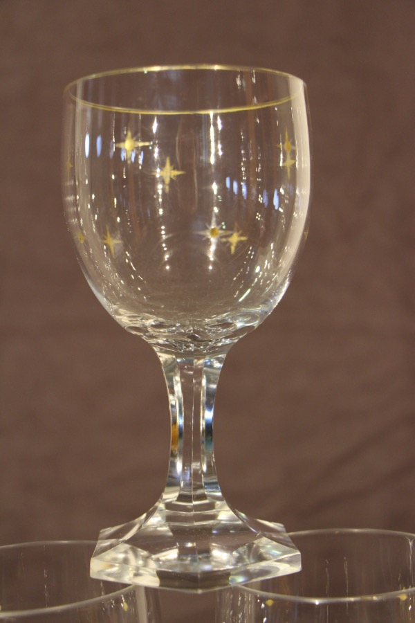 Buy French Art Deco Wine Glasses 12 Crystal From Antiques