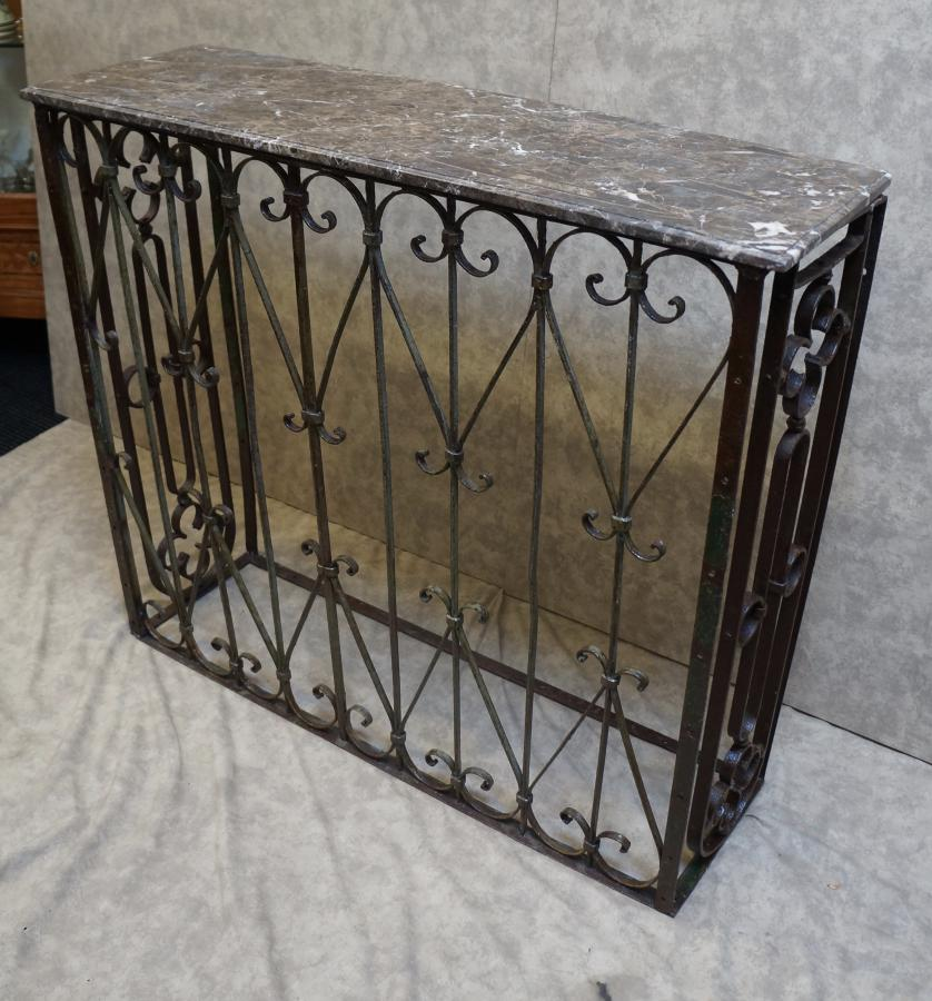 Buy French Wrought Iron Console Table From Seanic Antiques