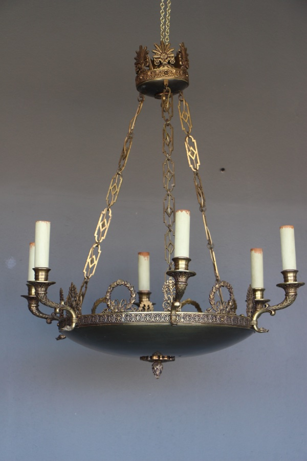 Buy Empire Chandelier Bronze Ceiling Light From Antiques