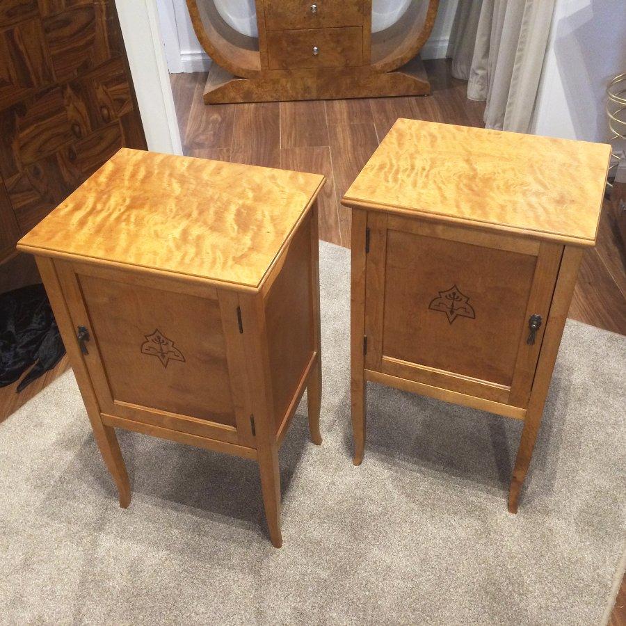Buy Pair Swedish Biedermeier Bedside Tables From Artedeco