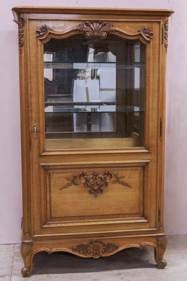 French Oak Display Cabinet - Buy French Oak Display Cabinet From 23fraserst Nostalgia Antiques