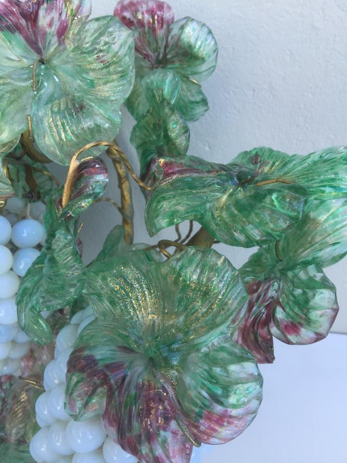 Buy Italian Murano Grape Vine Wall Light From Prism